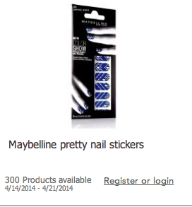 maybelline nail stickers Toluna: Get Paid to Test Products: Limited Openings for Maybelline Pretty Nail Stickers
