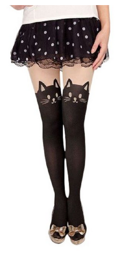 meow Pair of Cat Pantyhose Only $5.71 Shipped! (reg. $19.99)
