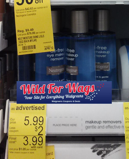 neutrogena FREE Neutrogena Eye Makeup Remover at Walgreens