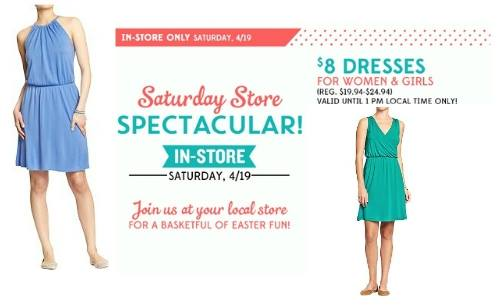 old navy Old Navy: $8 Dresses Until 1PM TODAY & More + Double Super Cash!