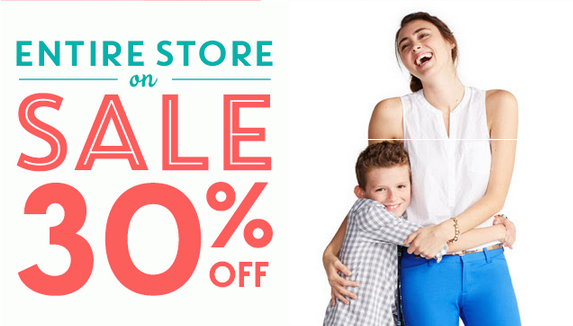 oldnavy2 Old Navy: 30% off the Entire Store + 60% off Specials+ Earn DOUBLE SUPER CASH!