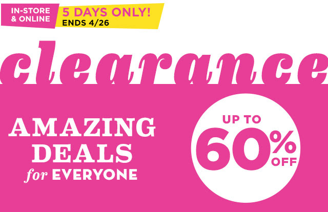 oldnavyclearance Old Navy: Up to 60% off Clearance + an Extra 50% off On Items Under $4.99!