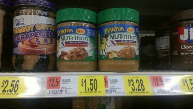 planters pb Planters NUT rition Peanut Butter Only $1 at Walmart!