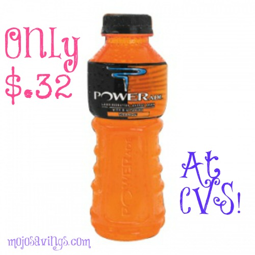 powerade HOT! New $.25/1 Powerade Coupon=$.32 at CVS!
