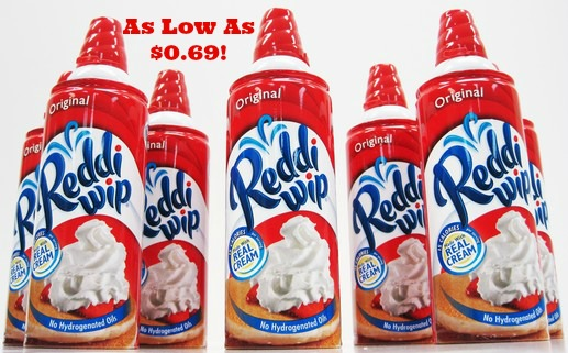 Reddi-Wip as Low as $0.69 at Target, Hot Deals at Target, Stock Up Deals at Target, Cheap Redd-Wip Deals, Reddi-Wip Coupons, Whipped Topping Coupons