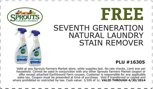 seventh Free Seventh Generation Natural Laundry Stain Remover