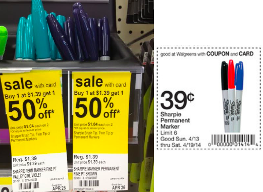 sharpie walgreens Sharpie Markers only $0.20 at Walgreens!