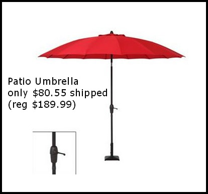 umbrella22 Sonoma Outdoors Crank & Tilt Patio Umbrella only $80.55 shipped (reg $189.99)