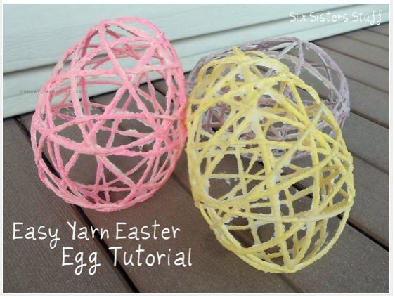 yarn easter eggs DIY: Easy Yarn Easter Egg Tutorial!