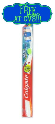 Colgate 360 toothbrush FREE Colgate Toothbrushes at CVS!