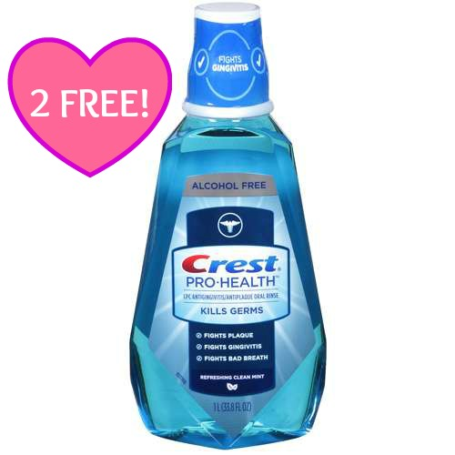 Crest Pro Health Rinse 2 FREE Bottles of Crest Pro Health Rinse at CVS!