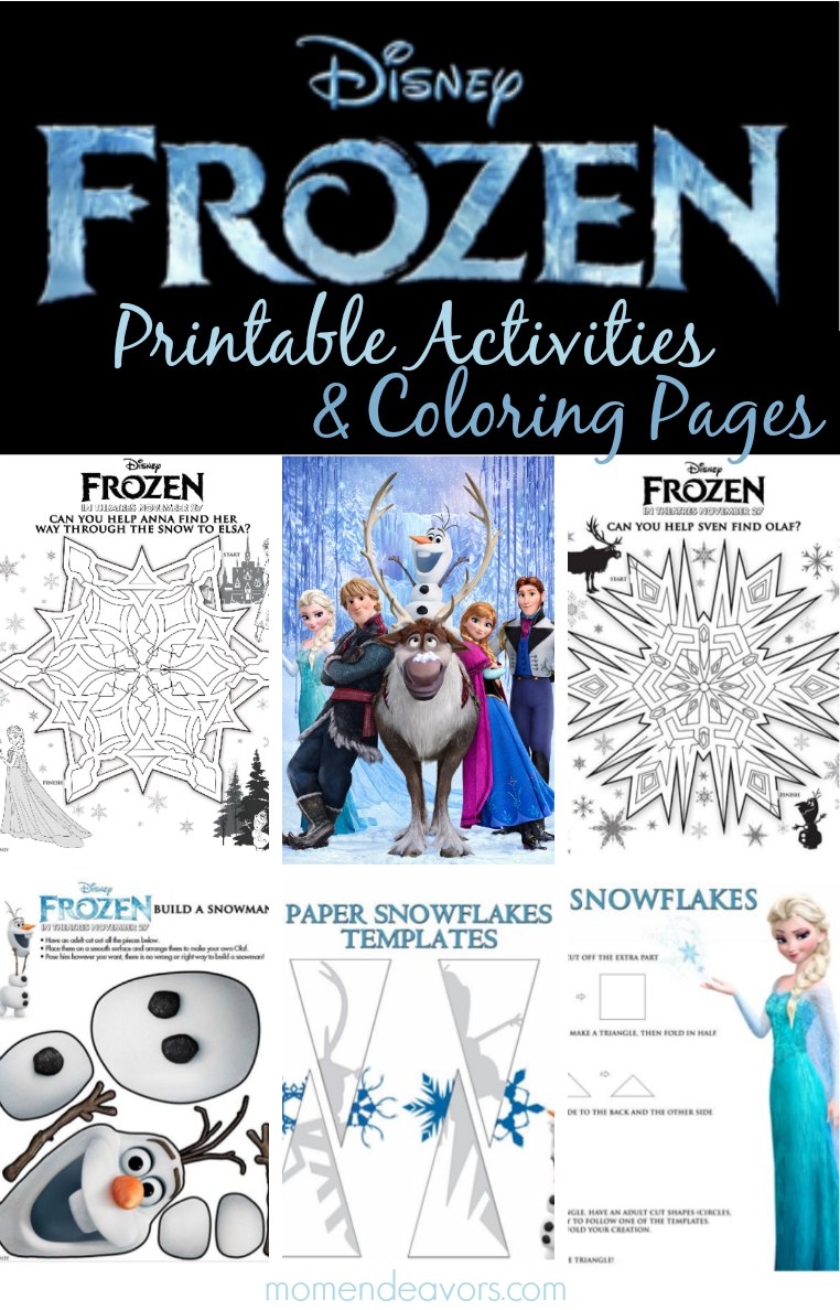 FREE Disney FROZEN Printable Activities Coloring Pages