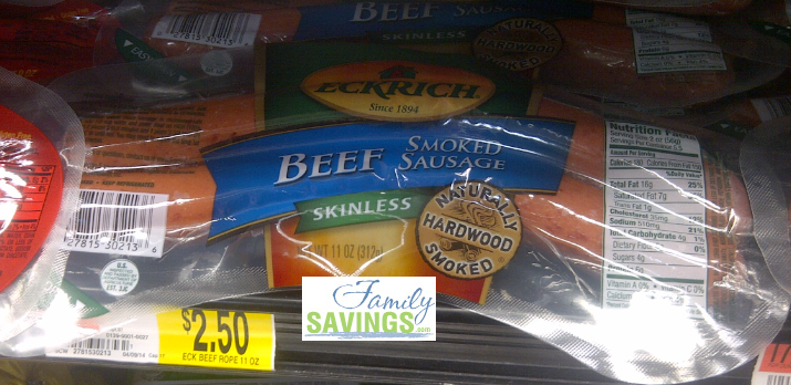 Eckrich1 Eckrich Sausage Only $.50 at Walmart!
