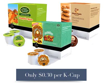 K Cups HOT! K Cups Only $.30 Each from Kohls!