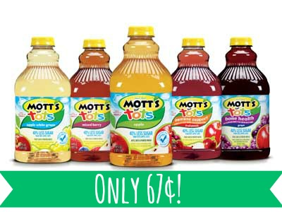 Motts for Tots Mott's for Tots Only 67¢ at Safeway! Today Only