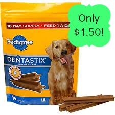 Pedigree Dentastix Pedigree Dog Treats only $1.50 at Publix!