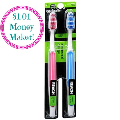 Reach Advanced Design Toothbrush 2 Pack $1.01 Money Maker on Reach Toothbrushes at Walgreens!