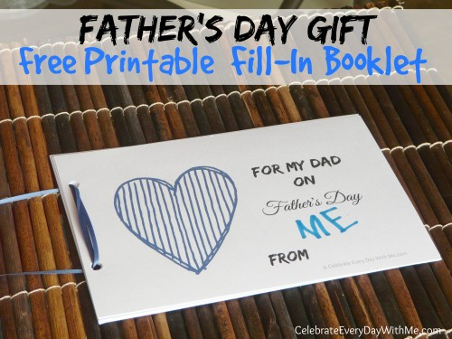 FREE Printable Father's Day Booklet, Free Stuff, Freebies, Free Samples, Father's Day Gifts, Holiday Freebies