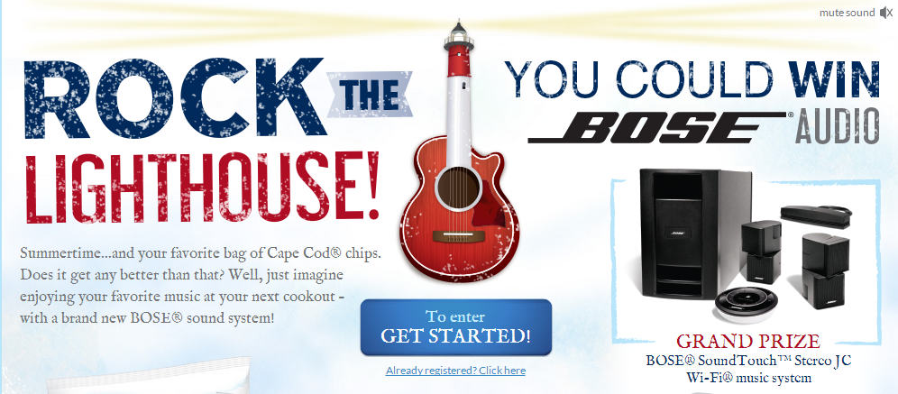 cape cod Cape Cod Rock the Lighthouse Instant Win Game  537 Winners!