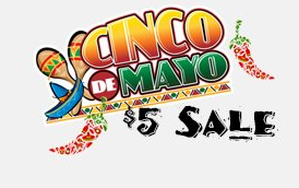 cinco Tanga Cinco De Mayo $5 Sale   Rings, Sesame Street, and More!