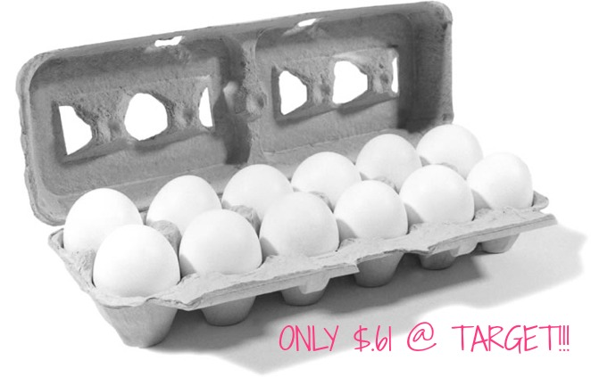 eggs One Dozen Eggs Only $.61 at Target!