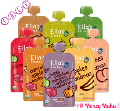 ellas 3 FREE + 44¢ Money Maker on Ella's Kitchen Baby Pouches at Target!