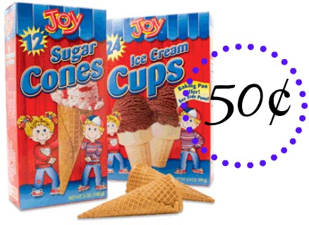 joy Box of Joy Ice Cream Cones Only 50¢ at Walmart!