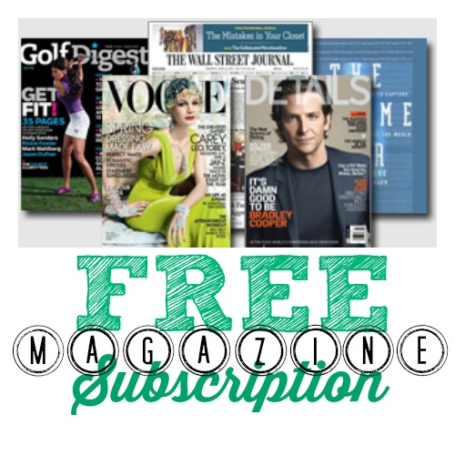 magazines FREE Magazine Subscriptions (Teen Vogue, Wall Street Journal, SELF and More)!