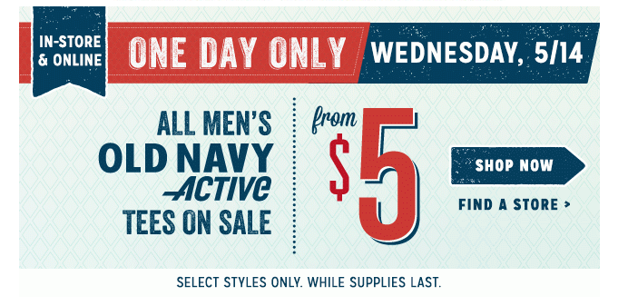 oldnavy1 Old Navy: $10 Women's Chambray Shirts+ All Mens Activewear Tops from $5 TODAY ONLY