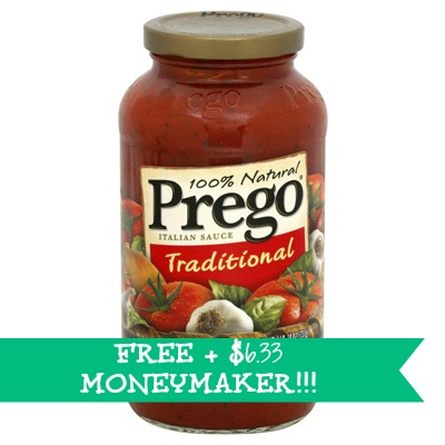 prego HOT! FREE + $6.33 Moneymaker on Prego Italian Sauce at Giant Stores!