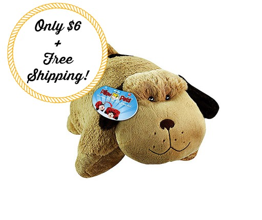 puppy pet Snuggly Puppy Pillow Pet Only $6 + FREE Shipping! TODAY ONLY!
