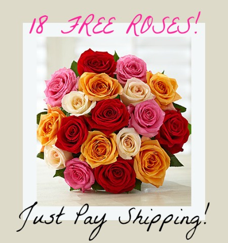 18 FREE Roses from 1-800-Flowers!- Just Pay Shipping!