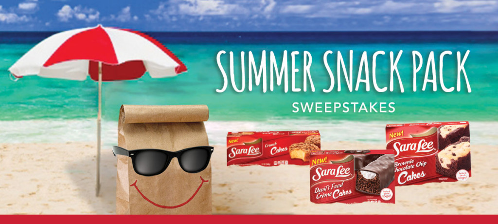 snack 1024x460 Sara Lee Summer Snack Pack Sweepstakes   Win a $500 Gift Card!