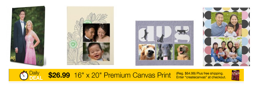 staples canvas 16x20 Custom Photo Canvas only $26.99 shipped (reg $64.99)