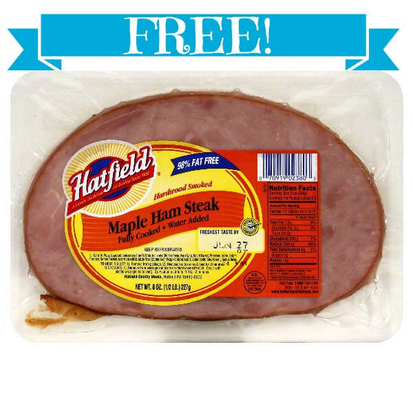 steak FREE Hatfield Ham Steak at Giant!