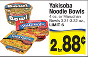 yakisoba FREE Yakisoba Noodle Bowls at Albertsons and Walmart!