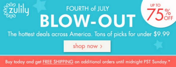 zullily Zulily: 4th of July Blowout Sale + Free Shipping after First Order!