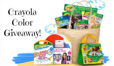 BASKET Crayola Color on the Go Daily Prize Pack Giveaway!