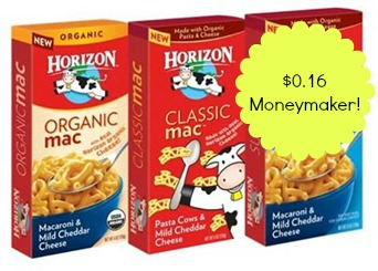 Horizon Mac Chees Horizon Organic Classic Mac and Cheese Moneymaker at Shop Rite!