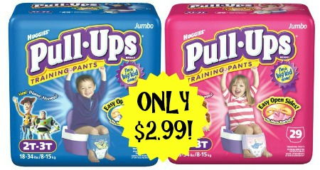 Huggies Pull Ups1 Huggies Pull Ups Jumbo Packs Only $2.99 at Target!