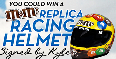 MMS Nascar Racing Helmet FREE M&M'S Nascar Racing Helmet (Signed by Kyle Busch) Giveaway!