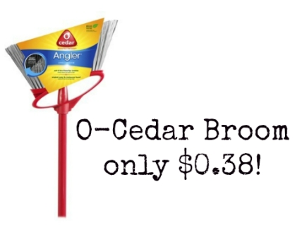 O Cedar Coupon O Cedar Coupon Angle Broom only $0.38 at Target!