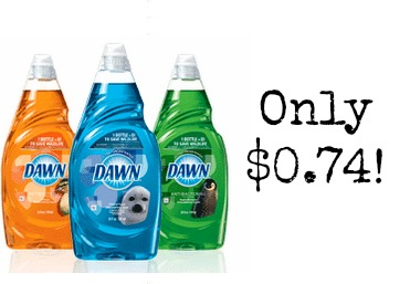 SOAP Dawn Dish Soap only $0.74 at Walgreens!