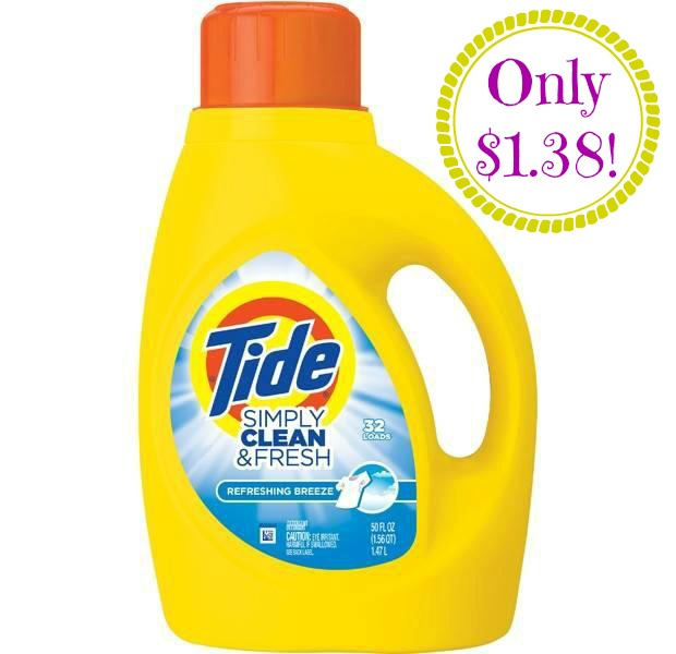 Tide Simply Clean Fresh HOT! Tide Simply Clean Only $1.38 at CVS!