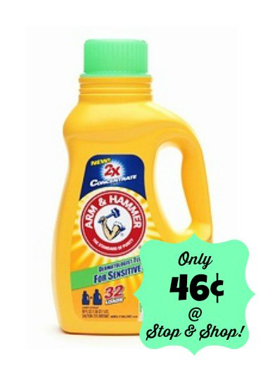 Arm & Hammer Laundry Detergent Only $.46 at Stop & Shop, Stock up on Laundry Detergent, Cheap Laundry Detergent, Hot Laundry Soap Deal
