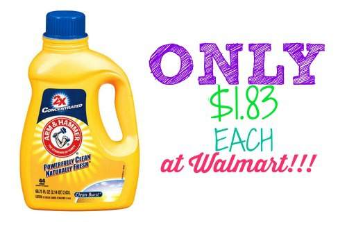 armhammer 1 HOT! Arm & Hammer Laundry Detergent Only $1.83 Each at Walmart!