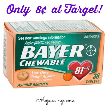 bayer 11 Bayer Chewable Low Dose Aspirin Only 8¢ at Target!
