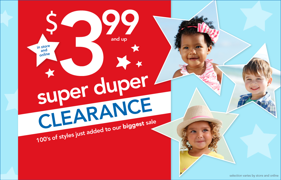 Carters: Clearance as Low As $2.39!