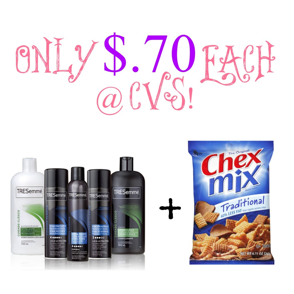 chextresemme 1024x1024 TRESemmé & Chex Mix Gas Card Deal at CVS=Only $.70 Each!