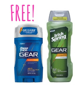 cvs freebies FREE Speed Stick Gear Deodorant & Irish Spring Gear Body Wash at CVS!